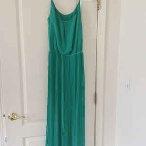 Bisou Bisou Aqua Pleated Maxi Dress